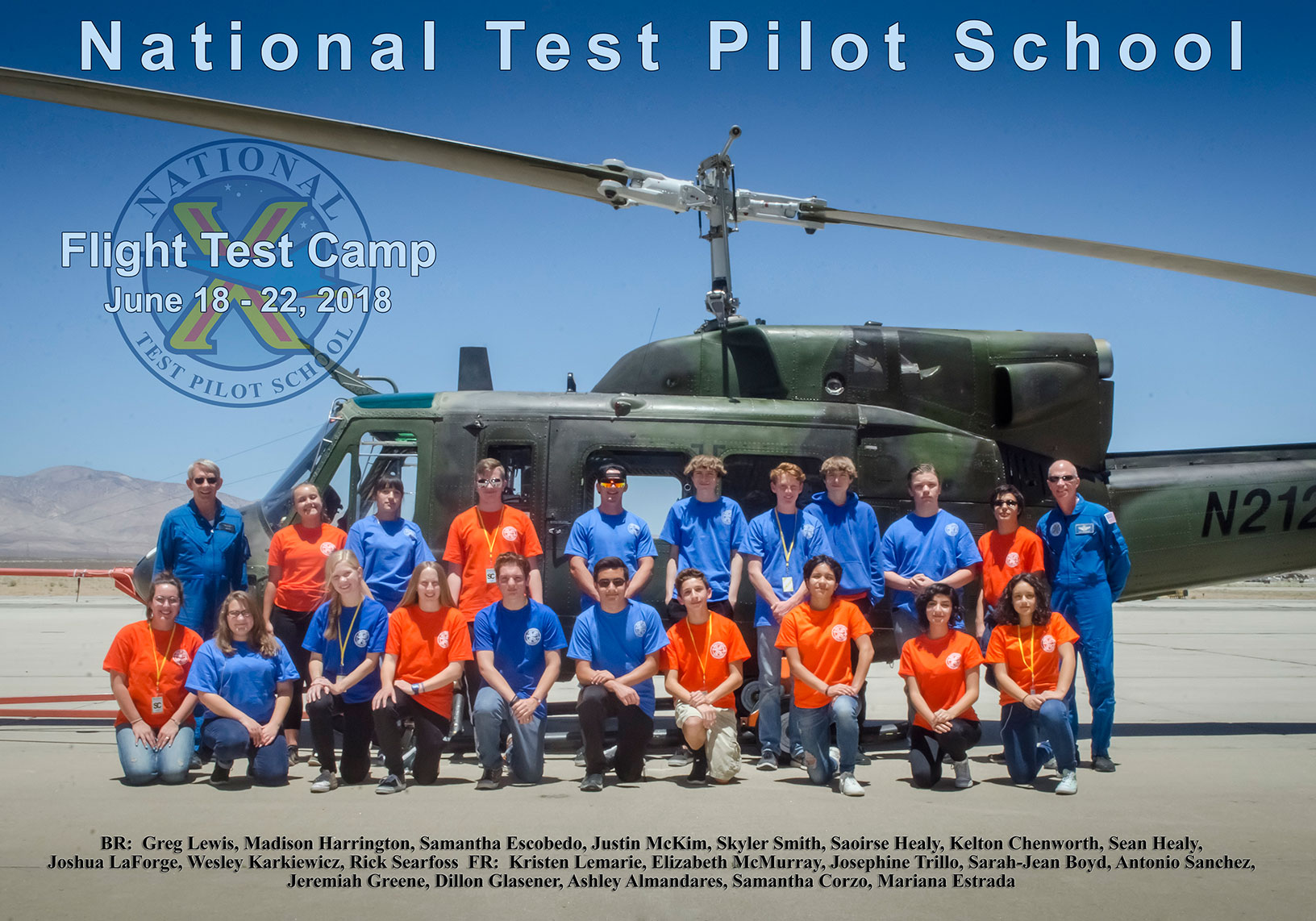 Flight Test Camp 2018 Group Photo